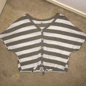 so brand cute stripped button shirt !!